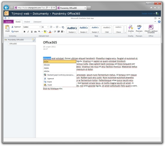 Office365 OneNote