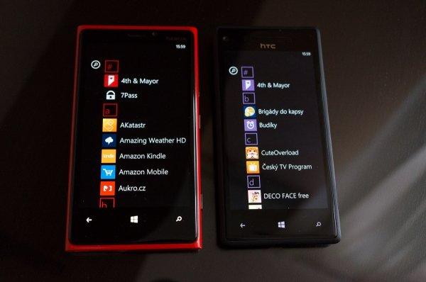HTC 8X a Lumia 920