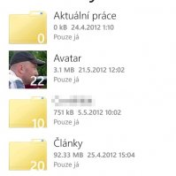 SkyDrive aplikace ve Windows Phone