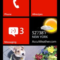Windows Phone 8 homescreen