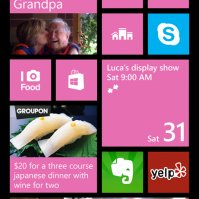 WP8 homescreen
