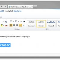 Word dokument ve webovém Office ve SkyDrive